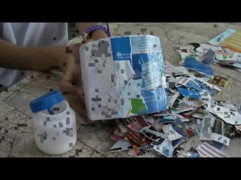 การประดิษฐ์กล่องกระดาษทิชชู่จากเศษวัสดุเหลือใช้