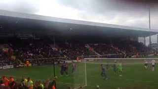 Dwight Gayle scores his second of the match - #cpfc vs #ffc