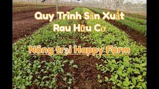 Quy Trình Sản Xuất Rau Hữu Cơ Nông Trại Happy Farm