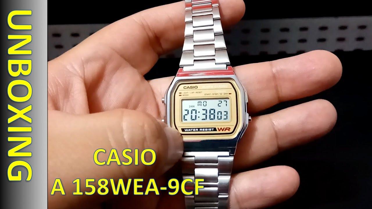 e3601281c38f Casio Men s A158WEA-9CF Unboxing - Reloj Digital Para Caballero ...