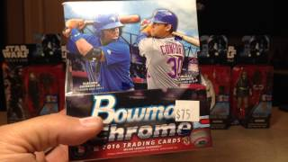 Opening another Hobby Box of 2016 Bowman Chrome Baseball Cards