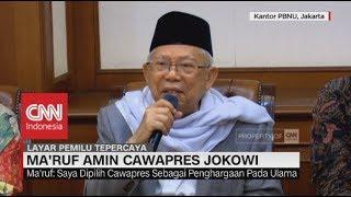 Download lagu Ma'ruf Amin: Saya Dipilih, Sebagai Penghargaan Pada Ulama; Ma'ruf Amin Cawapres Jokowi