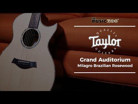 Taylor Custom BTO Grand Auditorium Milagro Brazilian Rosewood At The Music Zoo