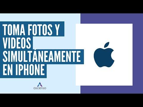 ¿Cómo tomar fotos y videos simultáneamente en iPhone?
