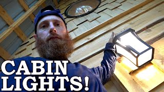 Off Grid LIGHTS (Cabin Wired for POWER)! | Sand, Paint and Floor