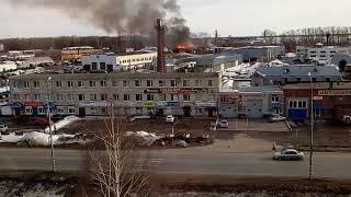 Пожар в Медведево