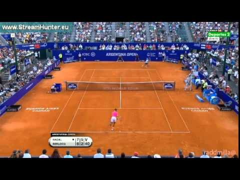 Rafael Nadal vs Berlocq 2nd set 1/2 Buenos Aires 2015 highlights + interview