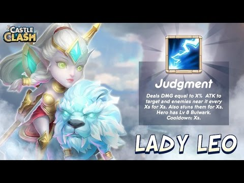 Castle Clash New Hero Lady Leo! Gameplay/First Impressions!
