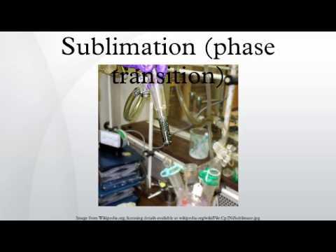 Sublimation (phase transition)