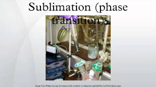 Sublimation (phase transition)