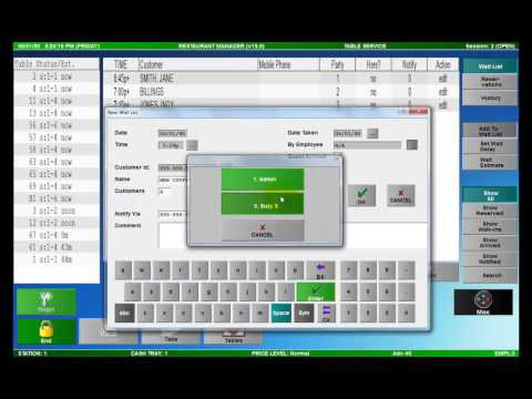 Restaurant Reservation System Demo - Restaurant Manager POS