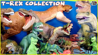 My HUGE T-REX Dinosaur Toy Collection (Tyrannosaurus Rex Dinosaurs) Jurassic World