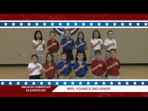 Daily Pledge-Brazos Christian School-Mrs. Young