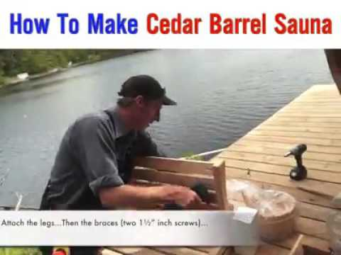 how to make cedar barrel sauna