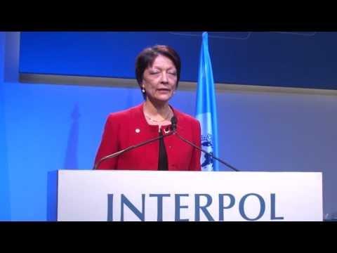 INTERPOL President Mireille Ballestrazzi following her election
