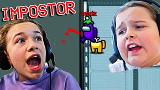 FIGHTING with my SISTER while playing Among Us!! | JKREW GAMING