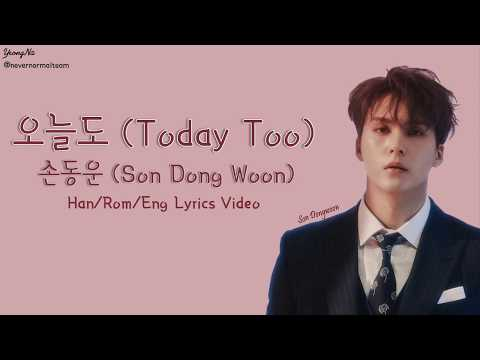 [Han/Rom/Eng]오늘도 (Today Too) - 손동운 (Son Dong Woon) Lyrics Video