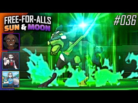 Pokémon Sun & Moon FFAs #036 Feat. JayYTGamer, CrimsonCBAD & BlueJayOnToast