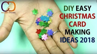 EASY & UNIQUE CHRISTMAS GREETING CARD MAKING IDEA I Kids Craft Project I Creative Diaries