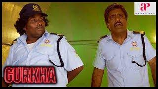 Yogi Babu Latest Comedy   Gurkha Movie   Yogi Babu tries to impress Elyssa   Charle   Manobala