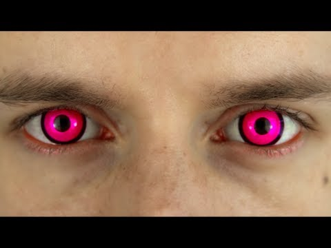 Bright Pink Colored Contact Lenses Terror Eyes Roly