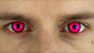 Bright Pink Colored Contact Lenses - Terror Eyes