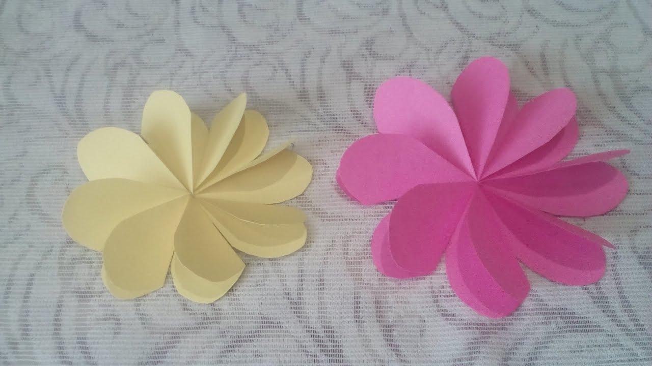 Цветочки из бумаги своими руками фото 946