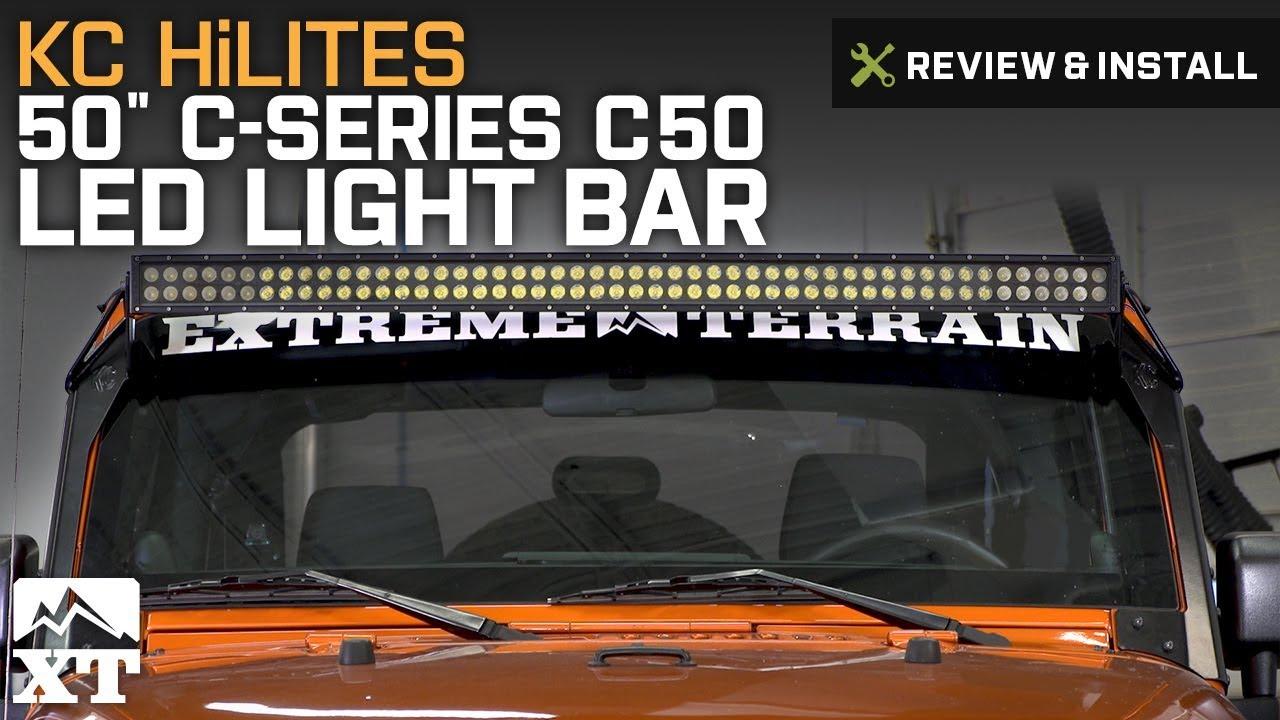 Jeep Wrangler Kc Hilites 50 C Series C50 Led Light Bar W Brackets Wiring 2007 2017 Jk Review Install
