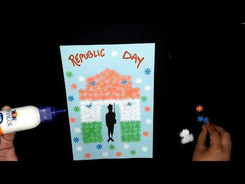 REPUBLIC DAY SPECIAL POSTER TUTORIAL FOR KIDS | PAPER CRAFTS | PUNCHES CRAFTS | DIY CRAFTS