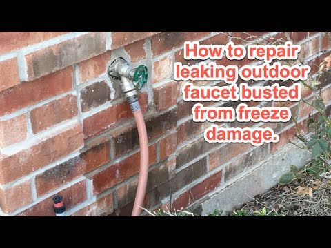 Outdoor Faucet Repair from Freezing - YouTube