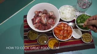 Lamb Curry Recipe - Indian Easy Masala - Kadai Gosht Karahi