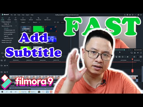 How to Add Subtitles to a Video in Filmora 9 FAST