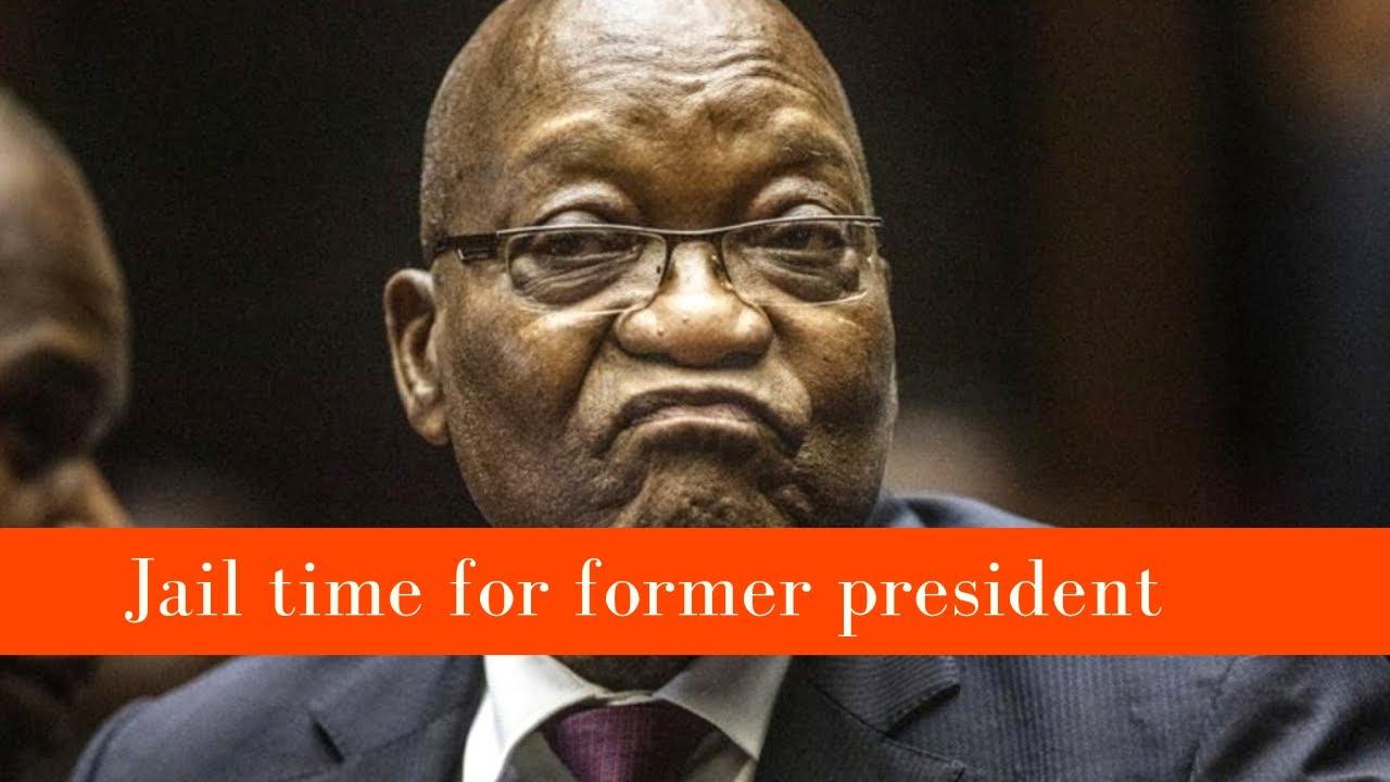 Former president Jacob Zuma sentenced to 15 months imprisonment