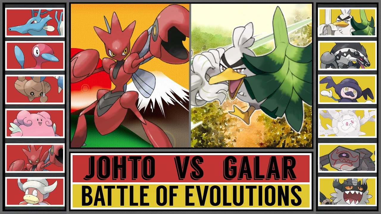 Battle of Evolutions: JOHTO vs GALAR