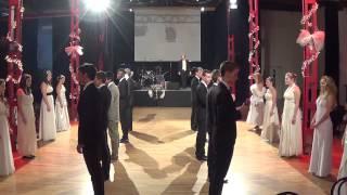 HTL Donaustadt Balleröffnung 2014 Generalprobe Teil 1: Polonaise; Kaiserwalzer