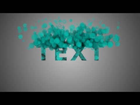 After Effects Tutorial: Particles Text Effects