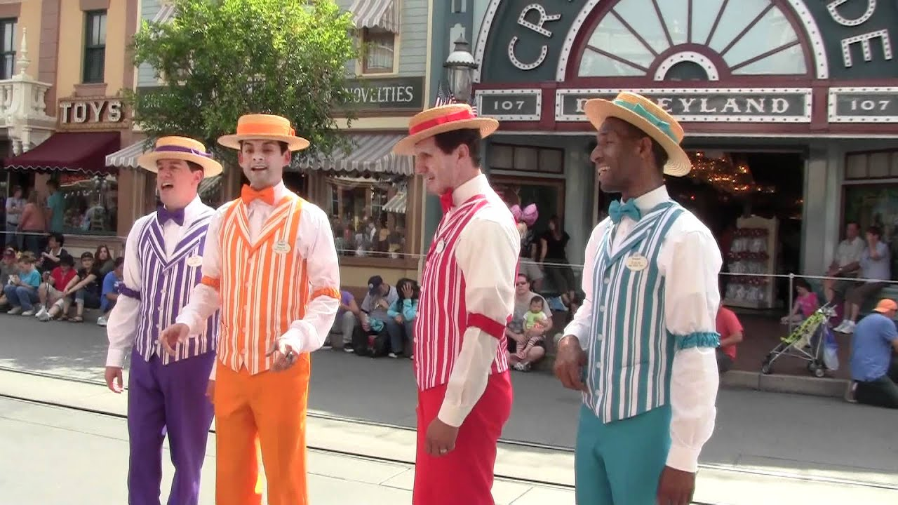 Disneyland BarberShop Quartet