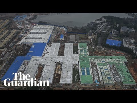 Coronavirus hospital timelapse: China completes build in eight days