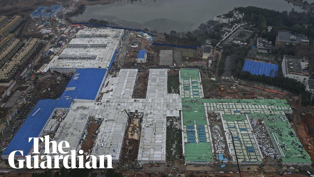 Coronavirus hospital timelapse: China completes build in eight ...