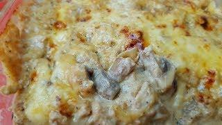 Жюльен с курицей и грибами, цыганка готовит. Gipsy cuisine.