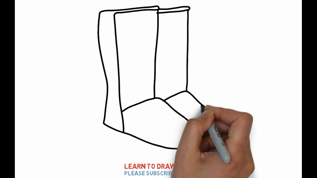 Uncategorized Draw Boots easy step for kids how to draw a boots youtube boots