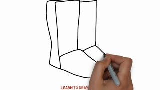 Easy Step For Kids How To Draw a Boots