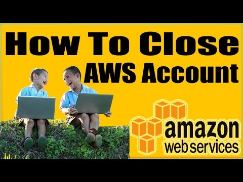 How To Close AWS Account How To Delete AWS Account How To Terminate AWS  Account