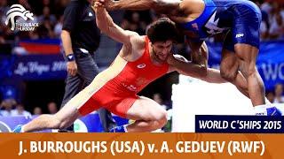 1/2 FS - 74 kg: J. BURROUGHS (USA) df. A. GEDUEV (RUS), 4-3