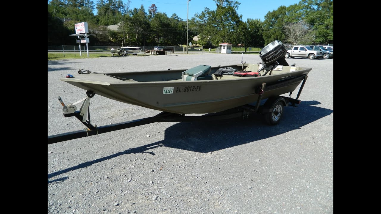 12 13 14 auction motor demo on outfitter 1448 g3 for G3 fishing boats