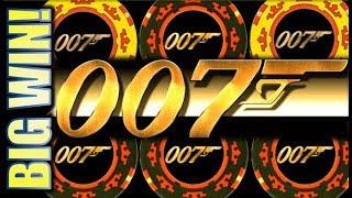★AWESOME BIG WIN!★ MAX BET $5.40 CASINO ROYALE 007 JAMES BOND Slot Machine Bonus (SG)