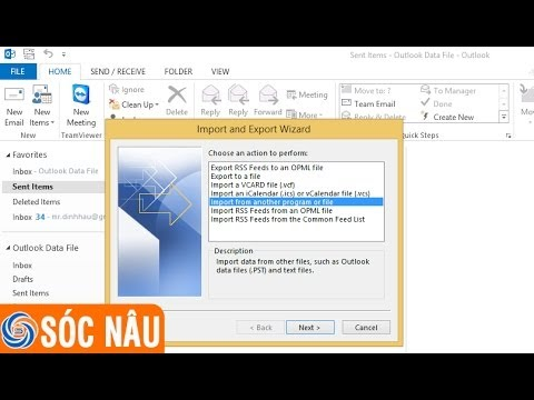 Hướng dẫn sao lưu danh bạ Microsoft Outlook 2013
