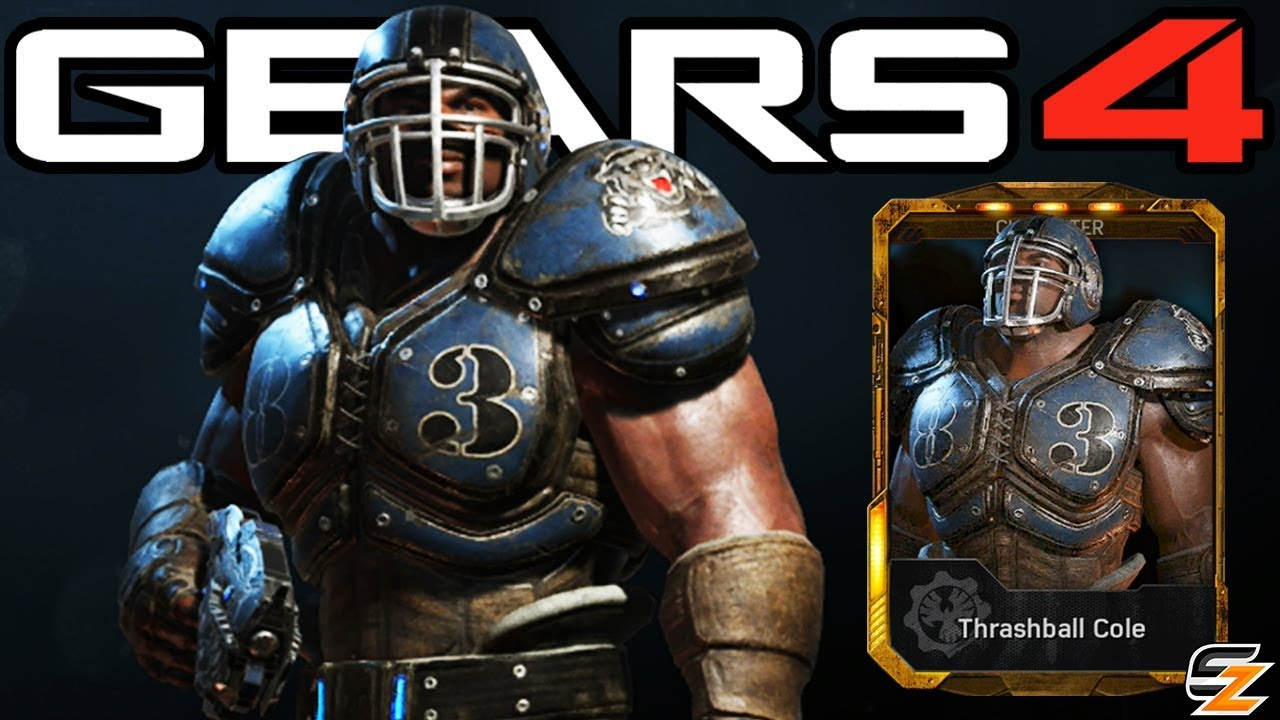 Gears Of War 4 Thrashball Cole Character Multiplayer