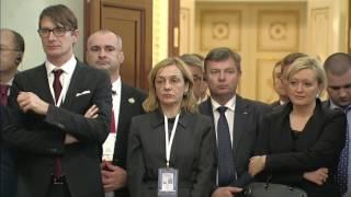 Vladimir Putin. Russian-Slovenian talks. Press conference.