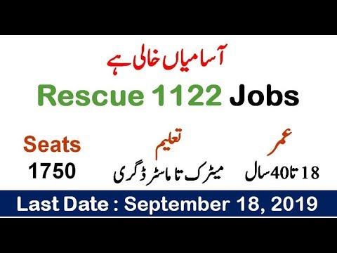 Rescue 1122 KPK Jobs 2019 Application Form Download Latest Advertisement